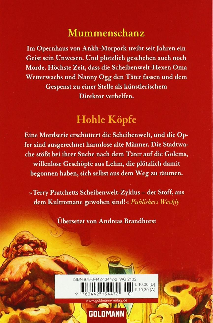 Hohle K�pfe: Zwei Scheibenweltromane In Einem Band:  Amazon: Terry Pratchett, Andreas Brandhorst: B�cher