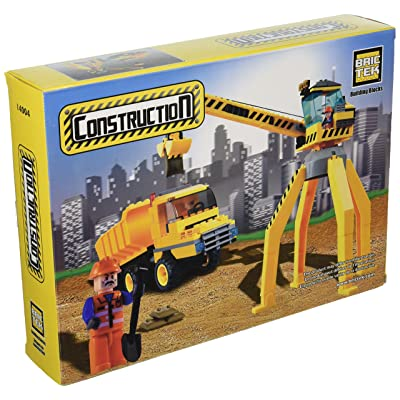 BRICTEK Crane with Truck Building Kit: Toys & Games [5Bkhe0305701]