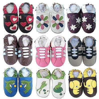 Amazon.com: Carozoo Zapatos de bebé oveja piel Suave Suela ...