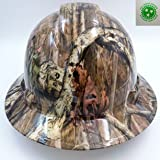 Wet Works Imaging Customized Pyramex Full Brim Break Up Camo Hard Hat With Ratcheting Suspension