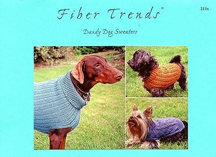 Amazon Fiber Trends Knitting Pattern Ft211x Dandy Dog Sweaters