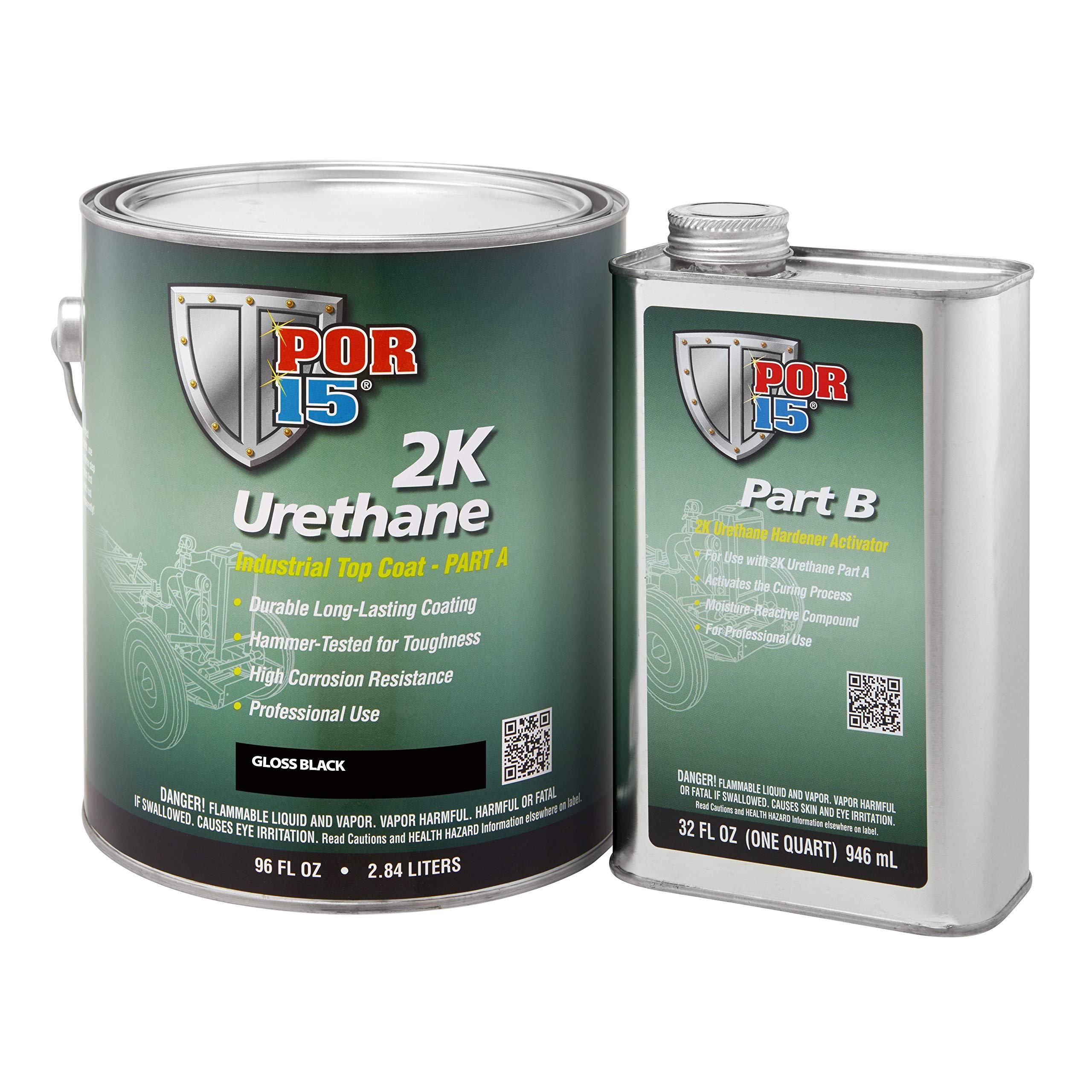 POR-15 43201 Gloss Black 2K Urethane - 1 gal