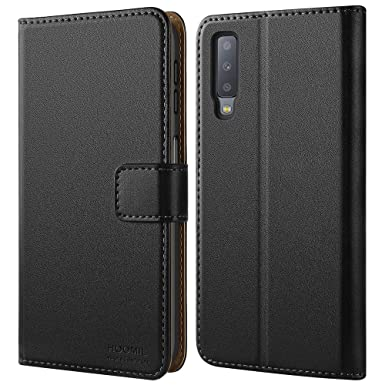 hot sales fc910 2aec4 HOOMIL Case Compatible with Samsung Galaxy A7 2018, Premium Leather Flip  Wallet Phone Case Cover for Samsung Galaxy A7 2018 (Black)
