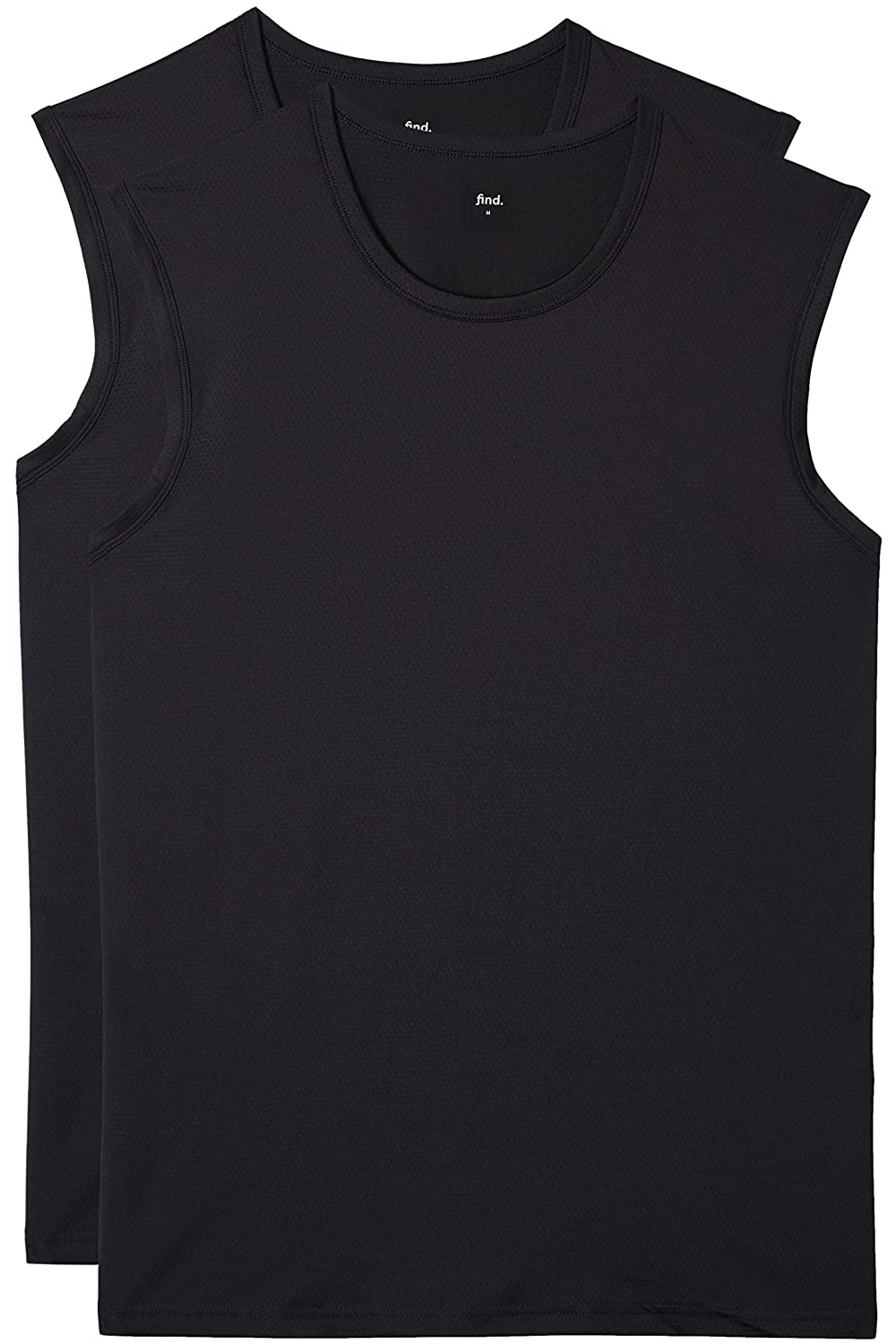 Mens Sports Vest Mesh Fabric and Crew-Neck find Pack of 2