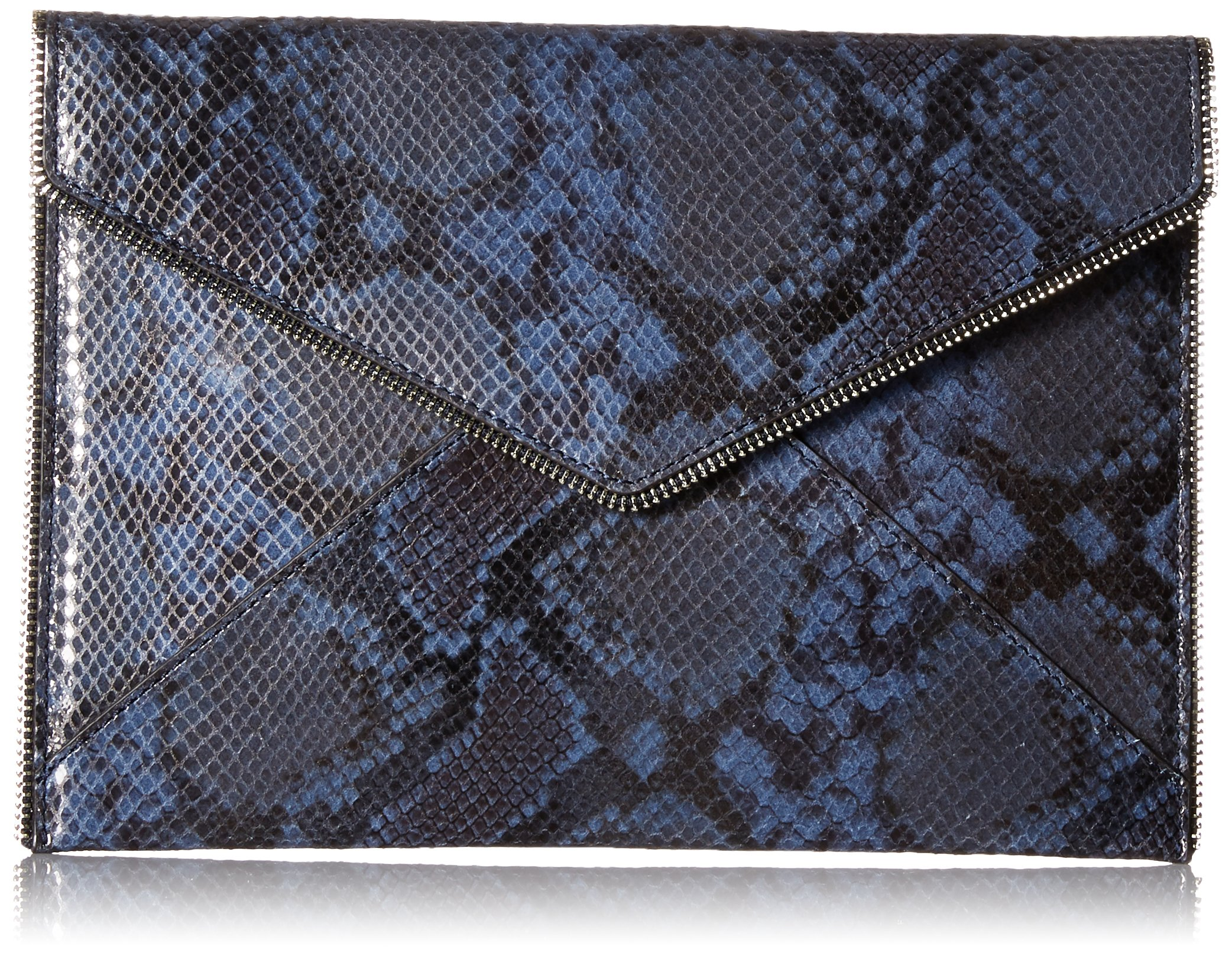 Rebecca Minkoff Sunday Leo Clutch, Blue Snake
