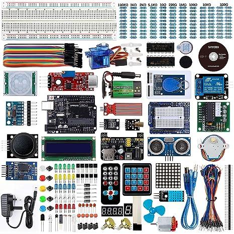 Smraza para Arduino Starter Kit, Completo Conjunto con Tutorial y UNO R3 Placa de Desarrollo