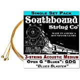 Acoustic Medium 3-String Cigar Box Guitar Strings - Low Open G