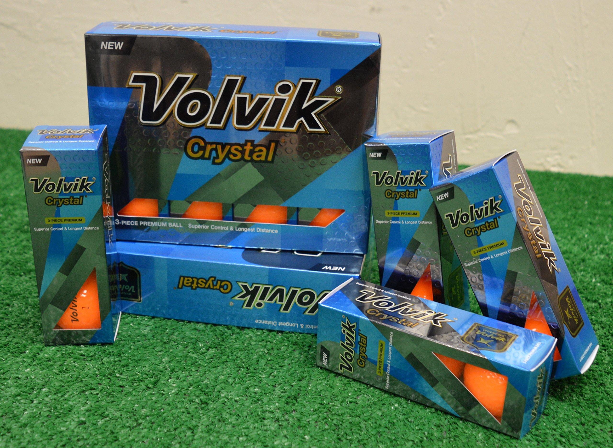 3 Dozen Volvik Crystal Orange Golf Balls - New in Box