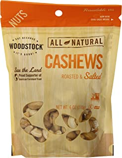 product image for Woodstock Natural Whole Cashews, Roasted and Salted, 6 Ounce
