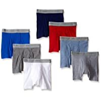 Hanes Boys' 7-Pack Dyed Boxer Briefs