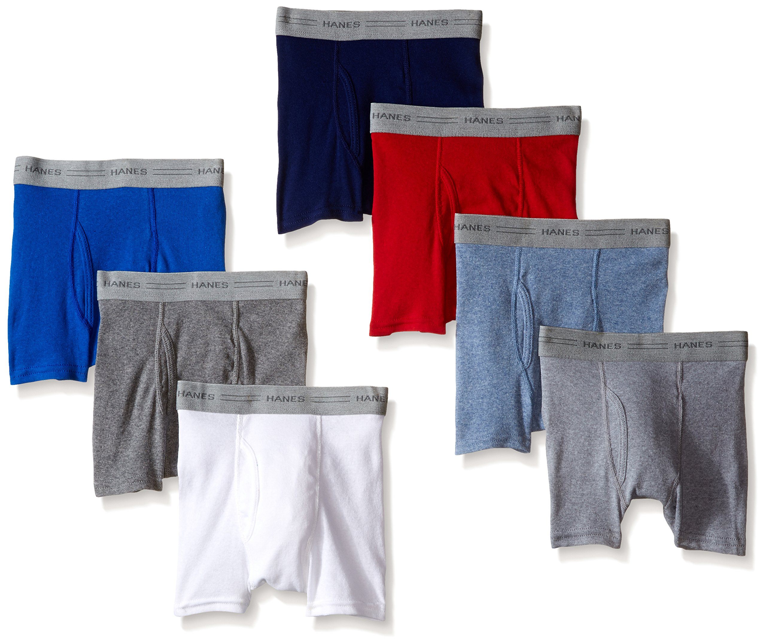 Hanes Toddler Boys Dyed Boxer Briefs, Assorted, 7-Pack, X-Large