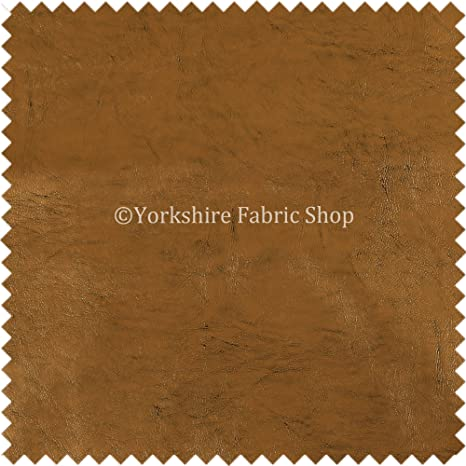 Soft Sheen Vinyl Old Gold Faux Leather Upholstery Fabric Perfect For Furnishing