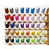 Simthread 40 Brother Colors Polyester 120d/2 40WT Embroidery Machine Thread for Brother Machine - 500M = 550 Yrds Each