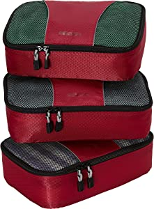 eBags Classic Small 3pc Packing Cubes (Raspberry)