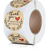 """1.5"""" Thank You for Supporting My Small Business Stickers, Classy Retro Sticker for Bags, Boxes, Tissue, Ideal for Crafters &"""