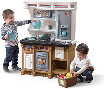Amazon Com Step2 Lifestyle Custom Kitchen Playset Toys Games