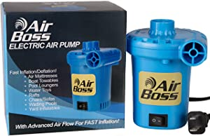 Air Boss 120V Electric Air Pump for Inflatables, Super Fast 1,000 Liters (264 Gallons) Air Per Minute, 3-4 Times Faster than Most, 2019 Enhanced, Mattress, Boat, Raft, Pool Floats, Airbed