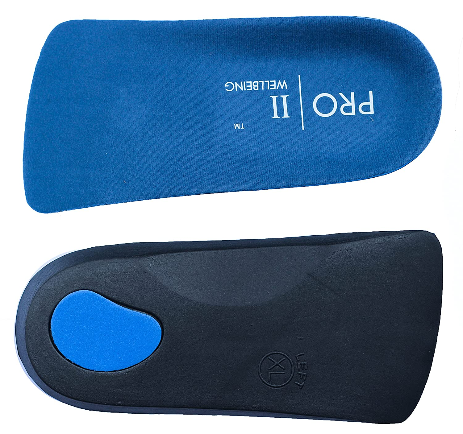 3/4 Orthotic Insoles with Arch Support and Heel Cup fallen arches, flat feet