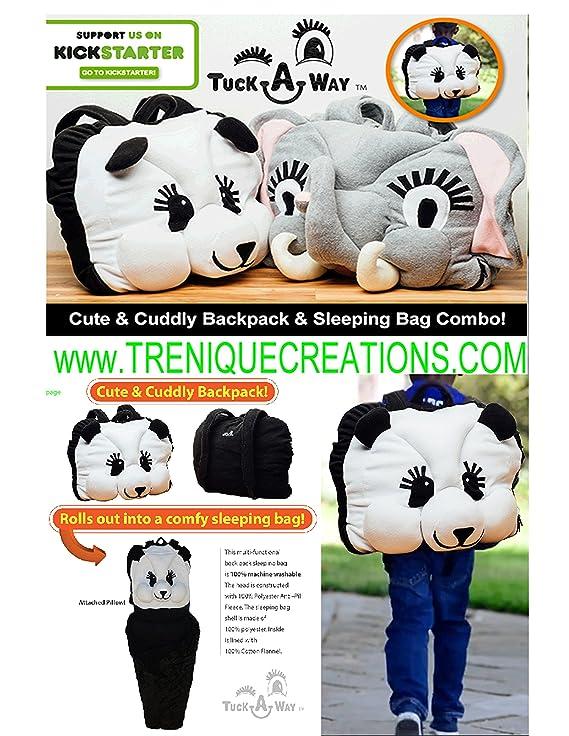 Niños mochila saco de dormir fiesta panda grande edad 7 - 12: Amazon.es: Deportes y aire libre