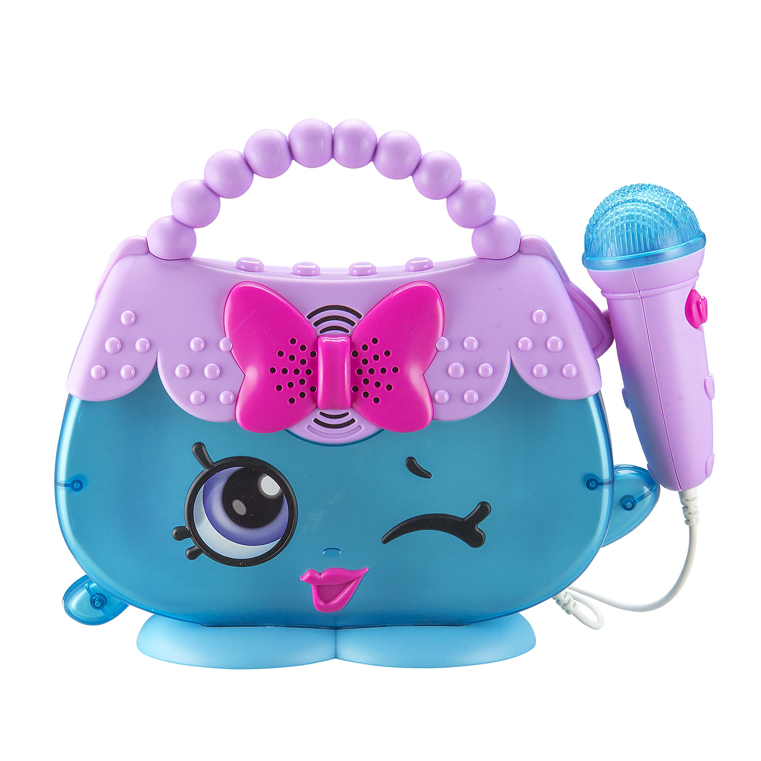 Shopkins Sing Along Boombox with Real Working Microphone Connects to Your MP3 Player Handbag Harriet Design