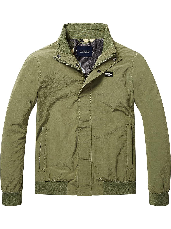 Scotch & Soda Simple AMS Blauw Harrington Jacket, Chaqueta para Hombre: Amazon.es: Ropa y accesorios