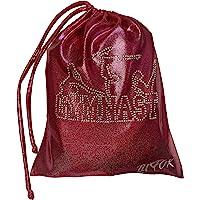 """LIL'FOX 8"""" x 10"""" Drawstring Girls Grip Bag for Gymnastics 26cm x 20cm - Storage Bag Gym Pouch Lightweight Drawstring…"""
