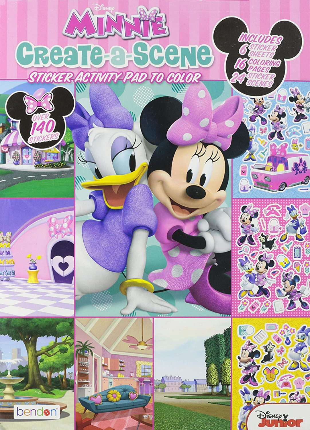 Disney Mickey Mouse and Minnie Mouse Stickers Activities Minnie Mouse Create a Scene