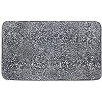 "Mud Trap Original Domani Super Absorbent Indoor Floor Mat 18"" x 30"" Black/Grey Cotton and Microfiber Non-Slip Base"
