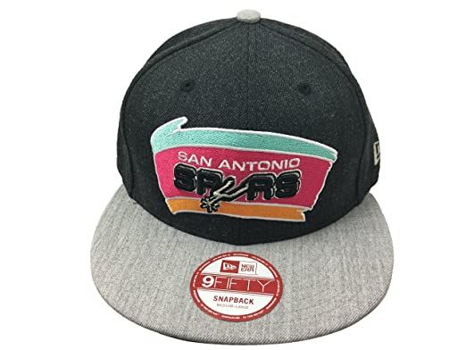 detailed look cd210 037db Image Unavailable. Image not available for. Color  New Era 9Fifty Heather  Act San Antonio Spurs Snapback OTC