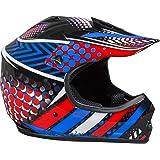Fuel Helmets SH-ORJ016 Junior Off-Road Helmet, Multicolor, Large