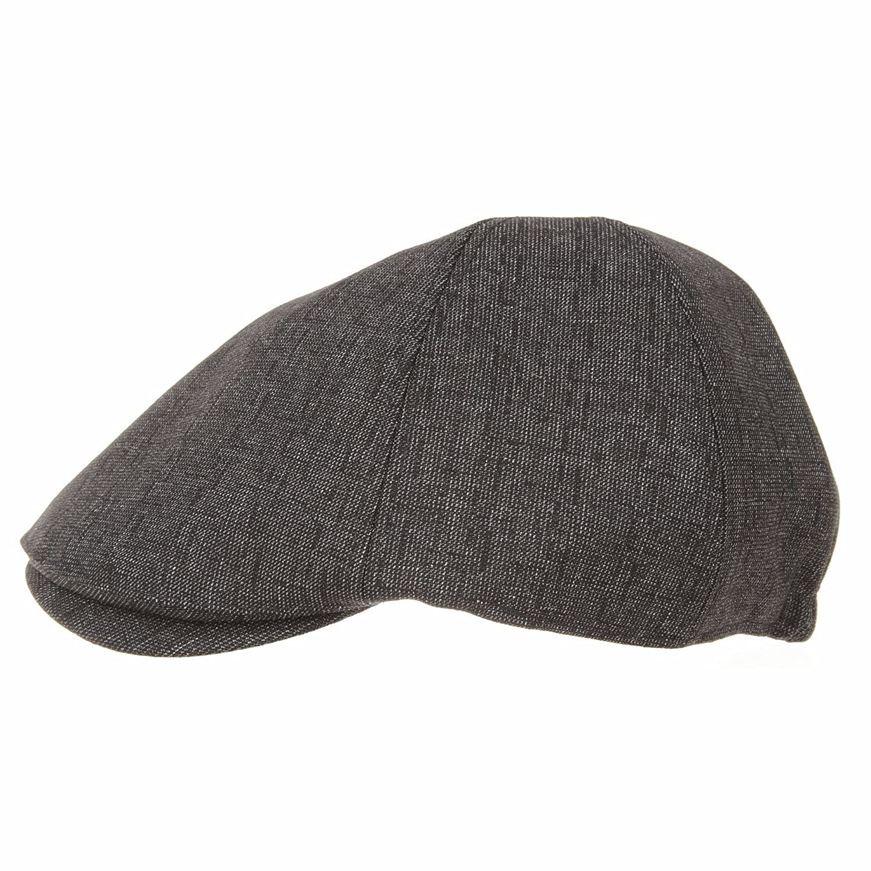 WITHMOONS Newsboy Hat Flat Cap Morse Dot Plaid Check Pattern SL3301