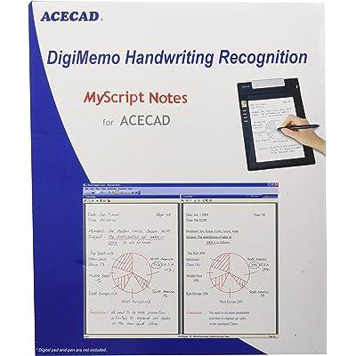 Solidtek ACECAD DigiMemo Handwriting Recognition - Sistemas OCR (Pentium 233, CHI (SIMPL), CHI (TR), DAN, DEU, DUT, ENG, ESP, FIN, ENG, ITA, JPN, KOR, NOR, POR, RUS, SWE, Windows 2000, XP or Vista)