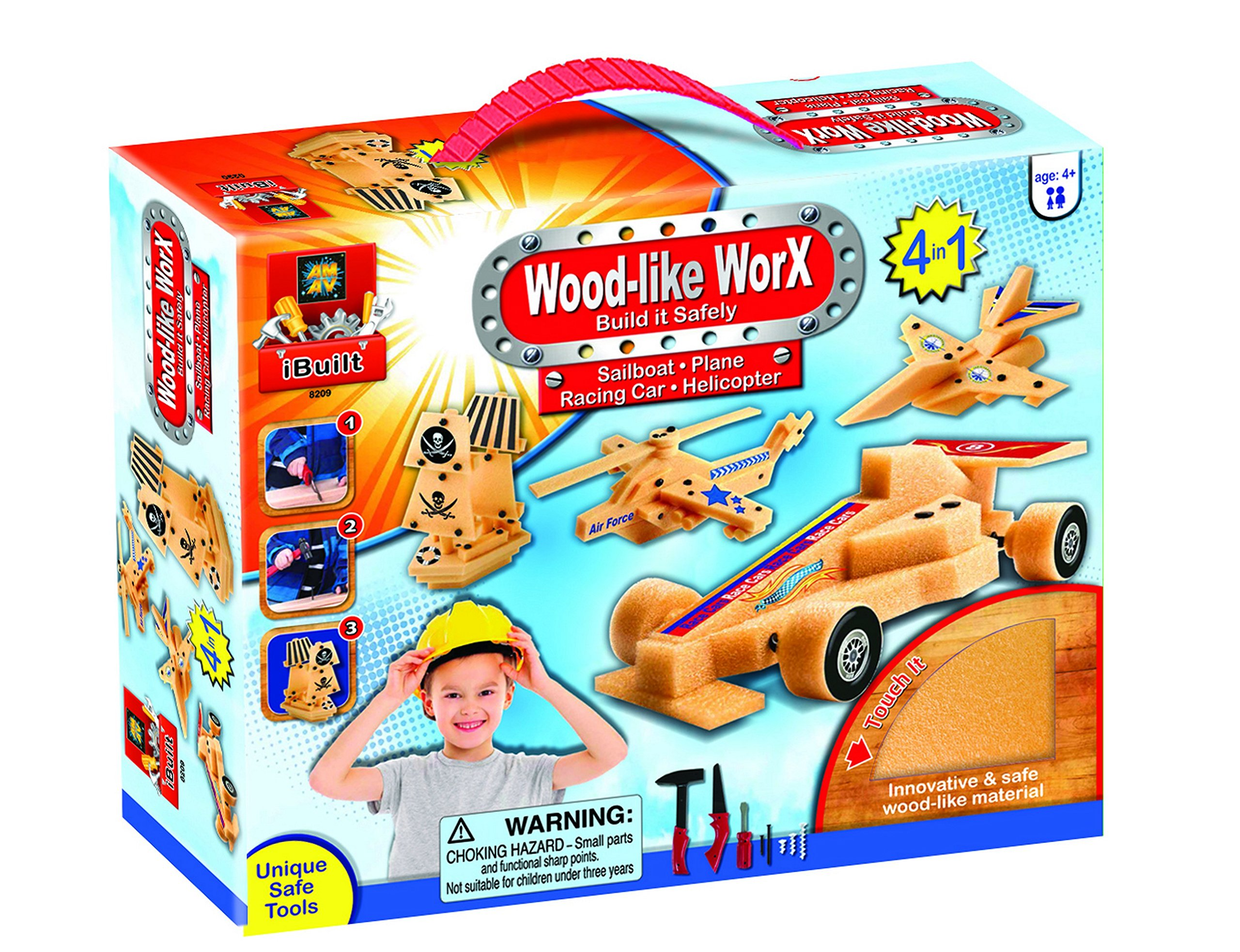 AMAV Toys Wood Like Worx - Build It Safely Multi Color Kit by AMAV Toys