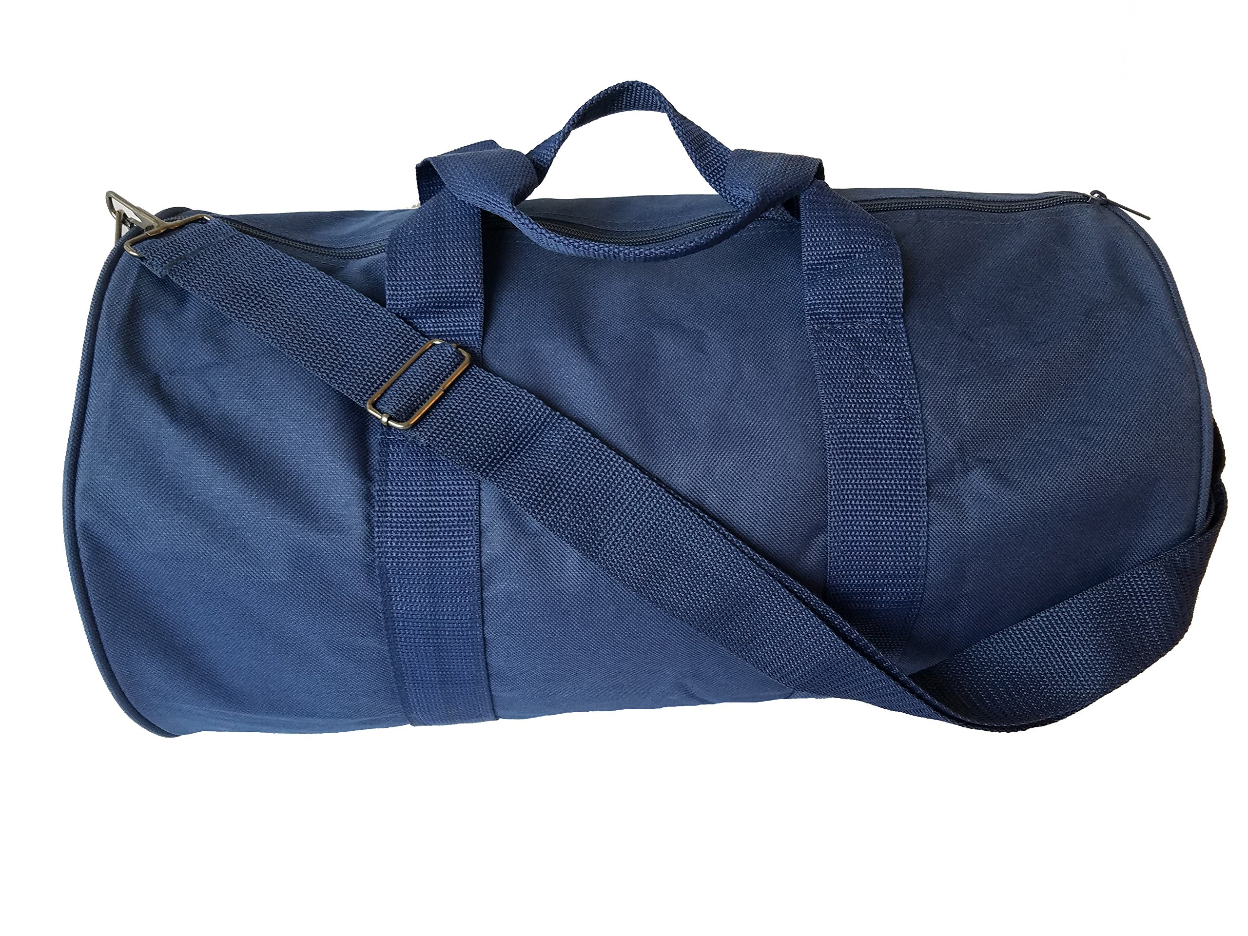ImpecGear Round Duffel Sports Bags, Travel Gym Fitness Bag. (Navy)