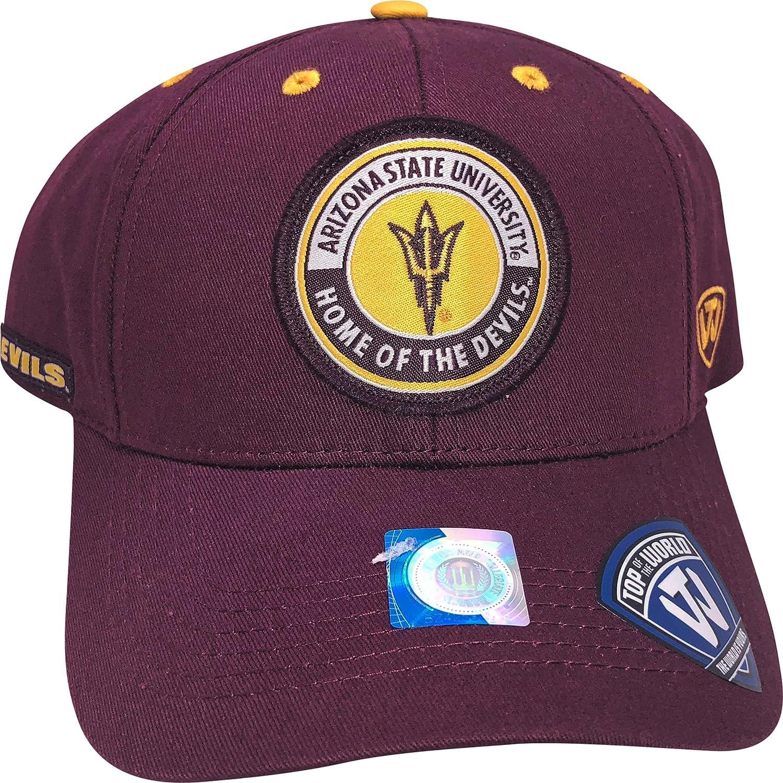 Top of the World NCAA ASU Sun Devils Adjustable Hat Burgundy