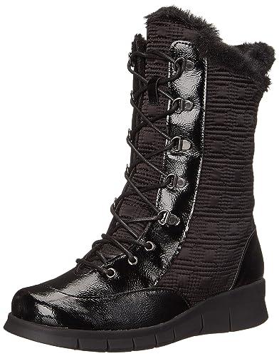 Womens Boots Aerosoles Enamel Black Combo