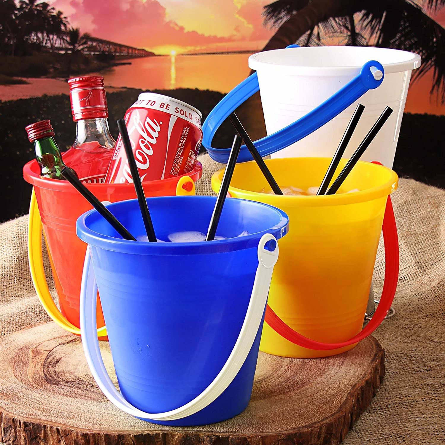 Full Moon Party Cocktail Buckets 14cm - Set of 4 - Plastic Thai ...