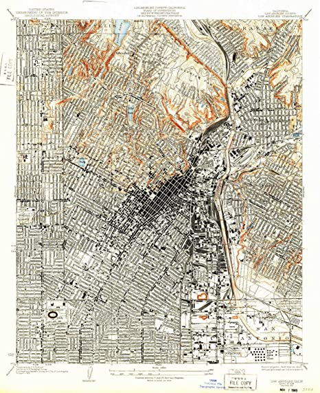 Amazon Com Yellowmaps Los Angeles Ca Topo Map 1 24000 Scale 7 5