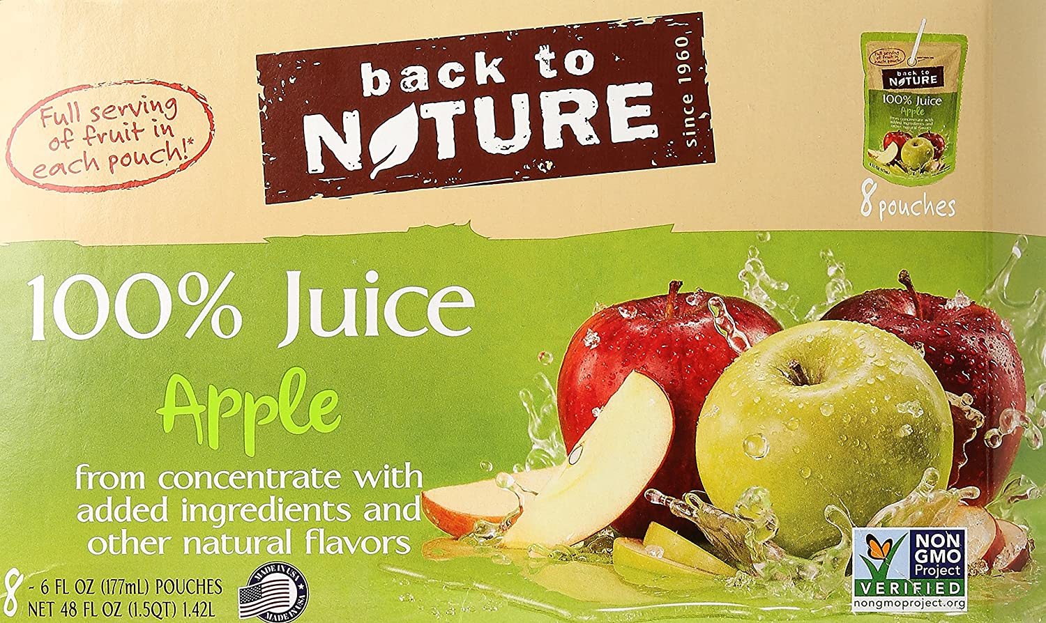Back to Nature All Natural Juice, Apple, 48 oz