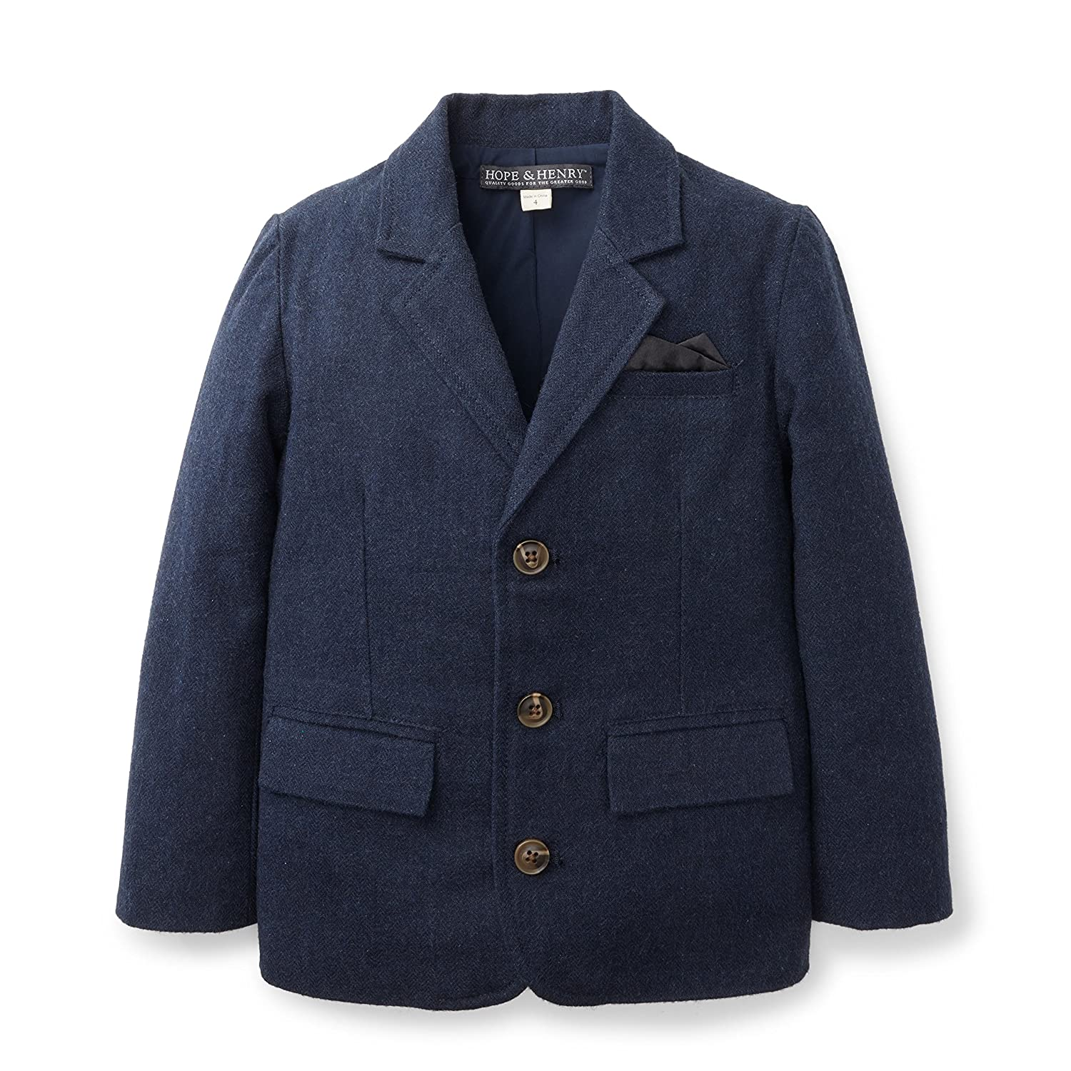 Hope & Henry Boys Navy Blazer Suit Jacket