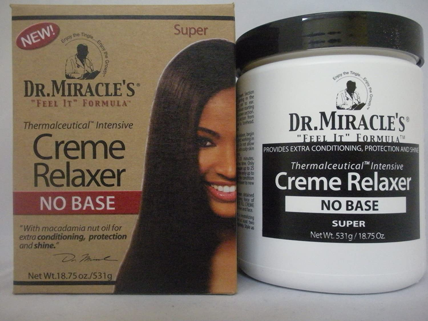 Dr. Miracle's Creme Relaxer No Base, Super, 18.75 Ounce
