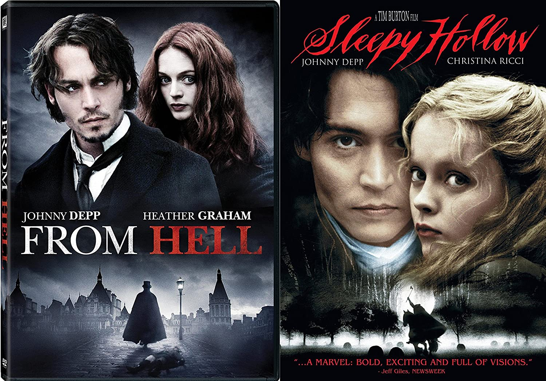 enfermedad Centímetro tofu  Amazon.com: Tim Burton Johnny Depp Sleepy Hollow +From Hell DVD Bundle  Fantasy Action set: Johnny Depp, Christina Ricci, Tim Burton: Movies & TV