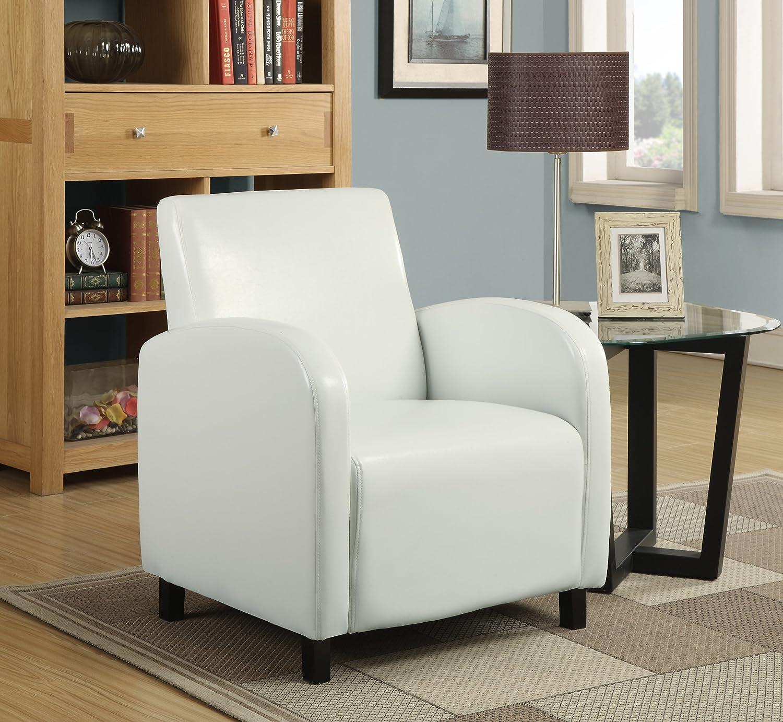 Monarch Specialties I 8050 Leather-Look Accent Chair Dark Brown 27 L x 28 D x 33 H 27 L x 28 D x 33 H