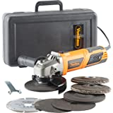 """VonHaus 950W 125mm (5"""") Angle Grinder with 7 Disc Accessory Kit 