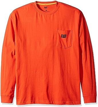 fa552abb881 Amazon.com  Caterpillar Men s Trademark Pocket Long Sleeve T-Shirt  Clothing
