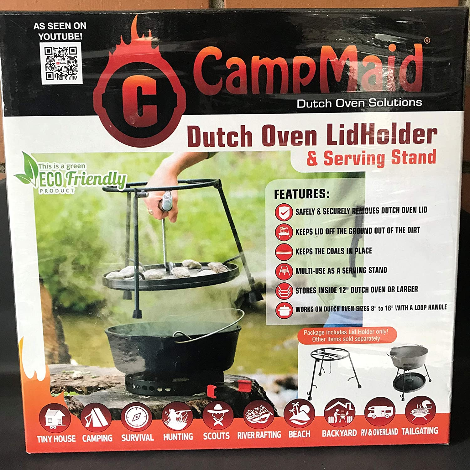 CampMaid Dutch Oven LidHolder and Serving Stand