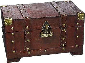 Nouveau Brynnberg - Boîte de Rangement - Coffre de Pirate Fait Main en GB-53