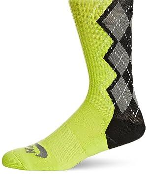 Nike Argyle Dri Fit Skate Crew - Calcetines para hombre, color negro, talla L