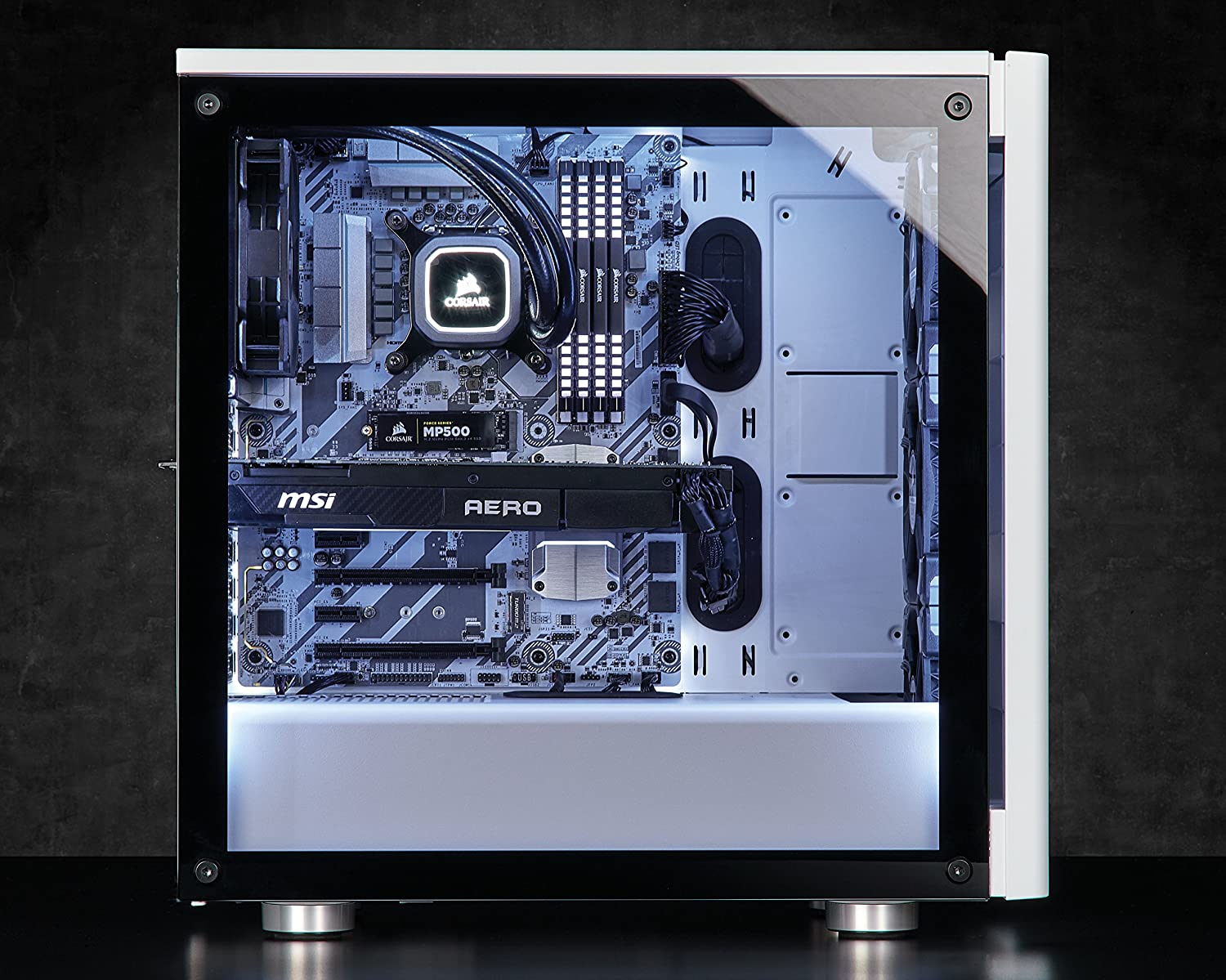 Window Side Panel CORSAIR Carbide 275R Mid-Tower Gaming Case White
