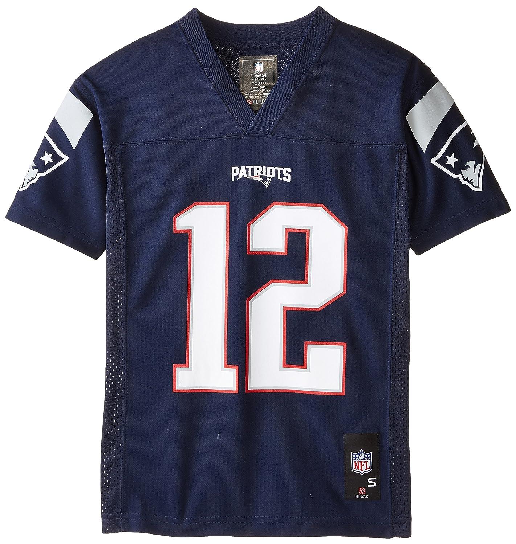 820cb294 NFL Youth Boys 8-20 Tom Brady New England Patriots Boys -Player Name  Jersey, Dark Navy, L(14-16)